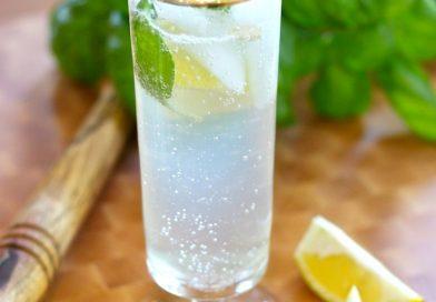 "Lemon Basil Spritzer~ Non Alcoholic ""Mocktail"""