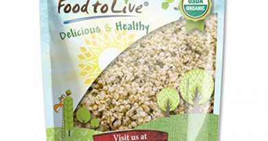 Food To Live Certified Organic Hemp Seeds Raw, Hulled 1 Pound 643415651636 *New*