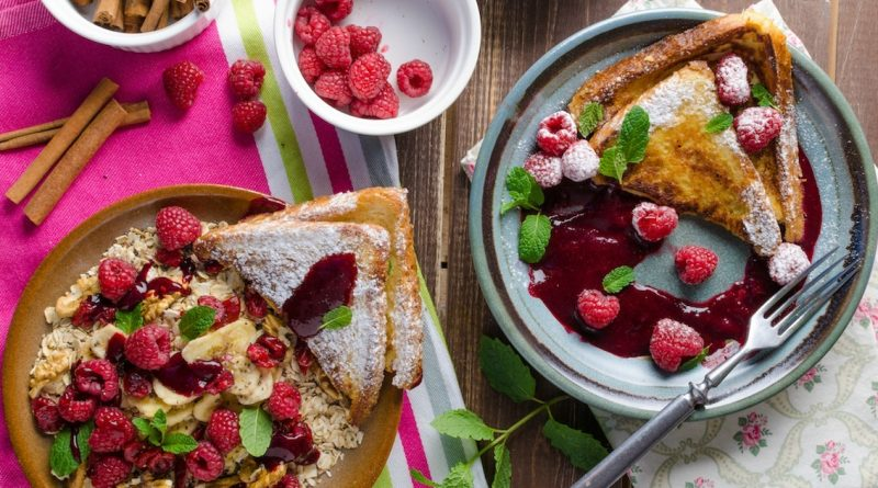 French Toast with Raspberry Compote