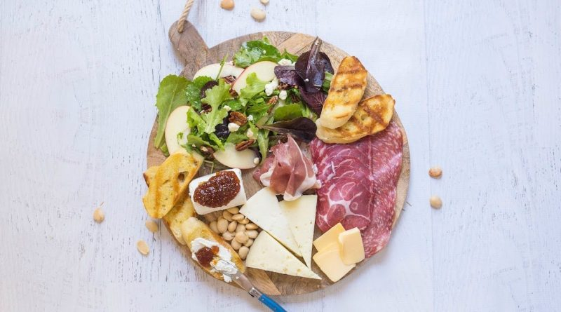 Salad and Charcuterie Board Dinner