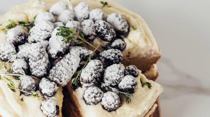Lemon Layer Cake with Blackberries!