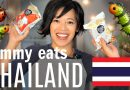 Tasting CRICKET & SILKWORM Snacks | Emmy Eats Thailand