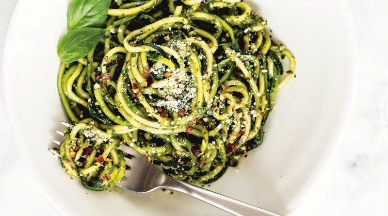 Almond Pesto Zucchini Noodles | The Organic Kitchen Blog and Tutorials
