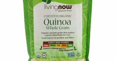 Now Foods Certified Organic Quinoa Whole Grain 16 oz 454 g Dairy-Free, Egg-Free,