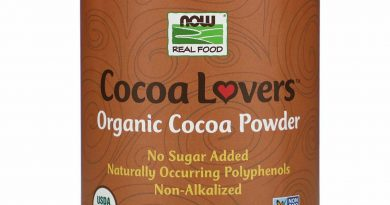 Now Foods Real Food Cocoa Lovers Organic Cocoa Powder 12 oz 340 g Gluten-Free,