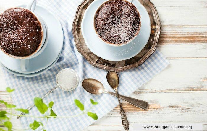 Double Chocolate Mug Cake!   The Organic Kitchen Blog and Tutorials