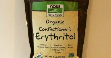 NOW Foods Organic Confectioners Erythritol Powder Replacement for Powdered sugar
