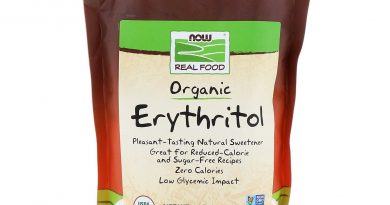 Now Foods Real Food Organic Erythritol Naturally Sweet 1 lb 454 g All-Natural,