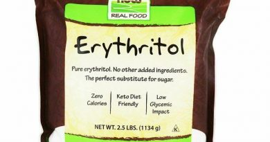 Now Foods Real Food Organic Erythritol Naturally Sweet 1 lb 454 g All-Natural