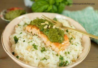 Pesto Salmon (Whole30-Keto-Low Carb) | The Organic Kitchen Blog and Tutorials