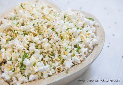 Parmesan Chive Popcorn | The Organic Kitchen Blog and Tutorials