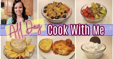 All Day Cook With Me | Simple Meal Ideas | Breakfast, Lunch, & Dinner + A Snack & A Dessert