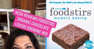 Neda Reviews FoodStirs Organic Chocolate Lovers Brownie Mix!