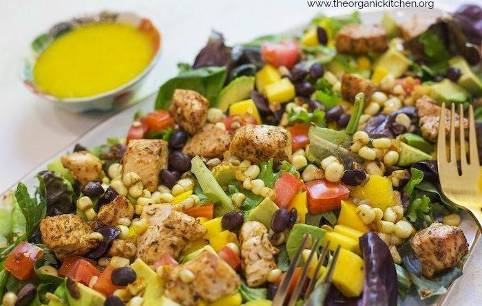 Southwest Chicken and Mango Salad with Mango Vinaigrette!