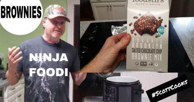 Foodstirs BROWNIE Review Ninja FOODI ~ Salted CHOCOLATE Chip