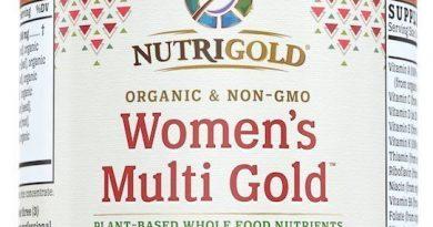 NutriGold Organic Whole-Food Women's Multi Vitamin Gold 90 Veggie Capsules