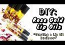 DIY:ROSE GOLD LIP OIL DIY ORGANIC LIP OIL   HOW TO MAKE LIP OILS WITHOUT VERSAGEL LIP GLOSS BUSINESS