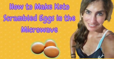 How to Make Keto  Scrambled Eggs in the Microwave.