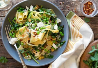 Pappardelle with Wilted Greens (Gluten Free Option)
